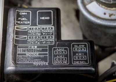 Toyota Hilux LN65 fuses