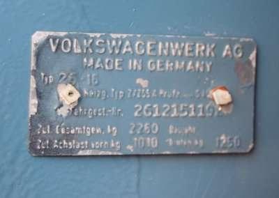 1971 VOlkswagen Doka Interior 0110